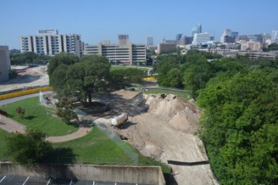 June 11, 2014: Still fairly green. And the mound of dirt keeps growing.