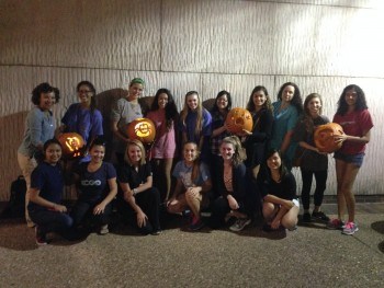 UTNSA students at pumpkin-carving event