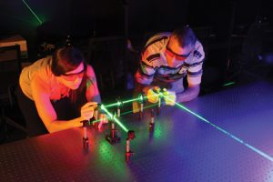 Students with Laser
