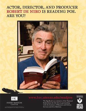 Robert De Niro is reading Poe. Are you?