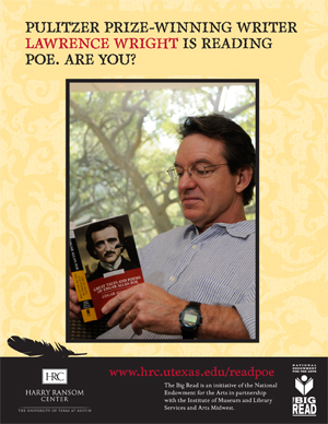 Lawrence Wright is reading Poe.