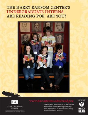 Ransom Center undergraduate interns are reading Poe.