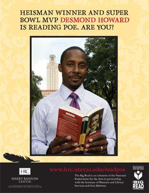 Desmond Howard is reading Poe.