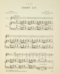 "Score for Josef Holbrooke's ballad ""Annabel Lee"""