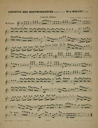 """Manuscript for Wolfgang Mozart's """"A Musical Joke"""""""