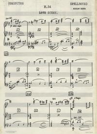 """Manuscript score for """"Spellbound"""" music."""