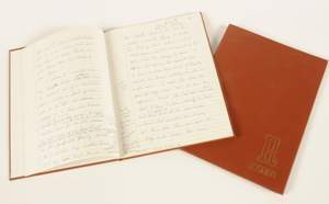 Notebook from Andre Dubus collection
