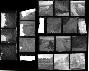Contact sheet of research photos for 'North by Northwest' taken by Ernest Lehman.