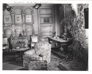 Click image to enlarge. Set still of the boathouse set from 'Rebecca,' 1940.