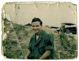 Snapshot of O'Brien in Vietnam. Unknown date and photographer.
