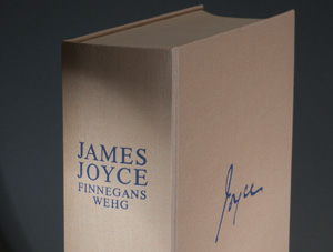 A German translation of James Joyce's 'Finnegans Wehg' ('Finnegans Wake'). Photo by Pete Smith.