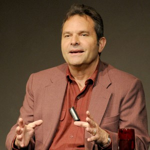Denis Johnson speaks on a panel at the 2008 Flair Symposium on 'Building the Archive.' Photo by Anthony Maddaloni.
