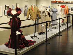 Costumes in the Ransom Center's 'Making Movies' exhibition. Photo by Anthony Maddaloni.