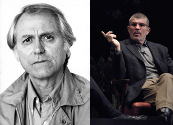 Left, photo of Don DeLillo by Joyce Ravid. Right, photo of David Mamet by Pete Smith.