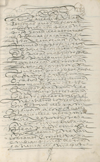 Petition for summons by the corregidor Andrés Fernández de Herrera, Valle de Cochabamba, Bolivia, 1596. HRC 117, Medieval and Early Modern Manuscripts collection. Harry Ransom Center.