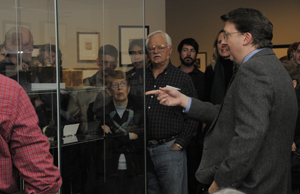 David Coleman, curator of photography, leads a gallery tour of the exhibition 'Discovering the Language of Photography: The Gernsheim Collection.' Photo by Anthony Maddaloni.