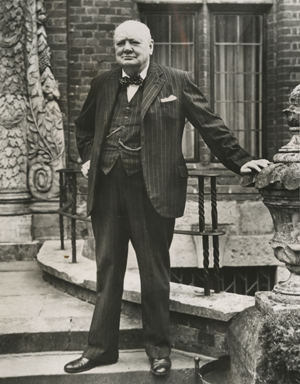 Winston Churchill by unknown photographer. Undated. 'New York Journal-American' collection.