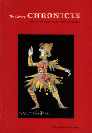 Cover of Volume 23, Numbers 2/3 of 'The Library Chronicle'