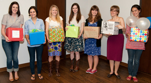Some of the 2010-2011 undergraduate interns were honored for their contributions, ranging from addressing research queries to supporting exhibition planning and assisting in the preservation of the collections. Photo by Pete Smith.