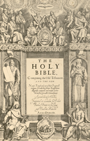 First edition of the authorized version of the King James Bible, 1611, Pforzheimer Collection. Harry Ransom Center.