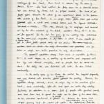 "J. M. Coetzee's handwritten drafts of ""Life & Times of Michael K"" is constructed of stacks of exam books bound together with cardboard and wire."
