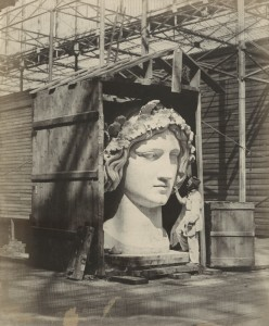 Philip H. Delamotte. Colossal head of Bavaria. Photographic Views of the Progress of the Crystal Palace, Sydenham. London: Crystal Palace Company, 1855. Harry Ransom Center.