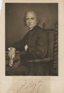 Signed photo of Franz Liszt, not dated