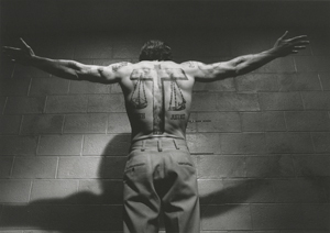 A production still of Robert De Niro as Max Cady, the bible verse-tattoo sporting convict from 'Cape Fear.'