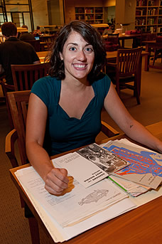 Samantha Pinto received a research fellowship to work in the Transcription Centre collection.