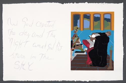 """Eight Studies for the Book of Genesis, No. 4"" by Jacob Lawrence, 1989."