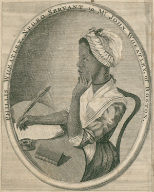 Portrait of Phillis Wheatley.