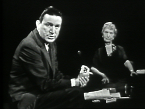 "Mike Wallace interviewing Margaret Sanger on ""The Mike Wallace Interview,"" September 23, 1957.  © Mike Wallace."