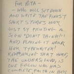 """Bradbury inscribed this first edition of """"Fahrenheit 451"""" to Rita Smith, a New York fiction editor who was also the sister of Carson McCullers. In the 1940s Smith was an editor at """"Mademoiselle"""" magazine. A young staff member, Truman Capote, found one of Bradbury's short stories in the magazine's slush pile of submissions and recommended it to Smith, who advocated its publication and became a lifelong friend of Bradbury's."""