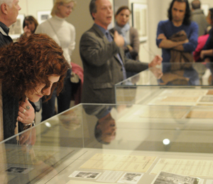 Film Curator Steve Wilson gives a tour to Ransom Center members. Photo by Anthony Maddaloni.