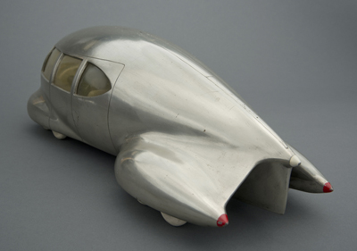 Norman Bel Geddes, Motor Car No. 9 (without tail fin), ca. 1933. Image courtesy of the Edith Lutyens and Norman Bel Geddes Foundation. Photo by Pete Smith.