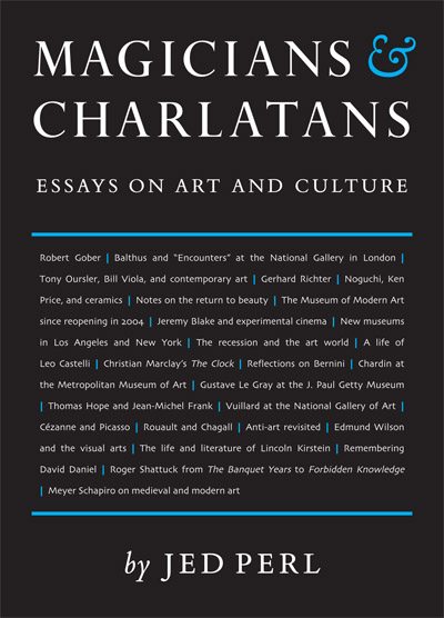 "Cover of ""Magicians and Charlatans: Essays on Art and Culture"" by Jed Perl."