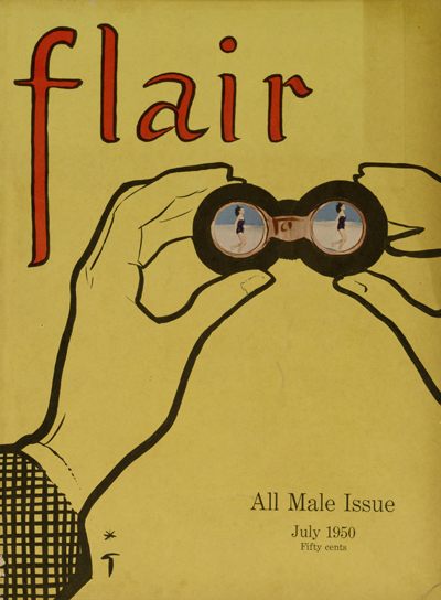 "Cover of July 1950 issue of ""Flair"" magazine."