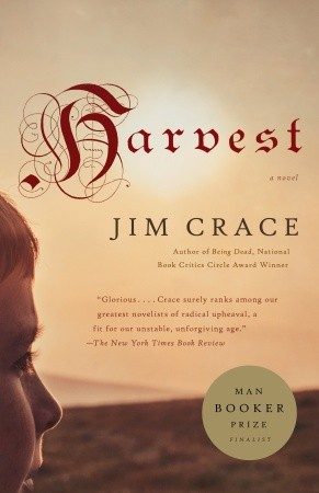 "Cover of Jim Crace's novel ""Harvest."""