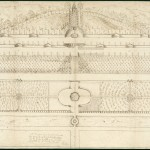 Sketch of a garden for the Duke of Norfolk's house at Albury in Surrey, 1667, by John Evelyn.