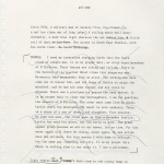 """Typescript of """"The Steward of Christendom"""" in the Sebastian Barry papers at the Ransom Center showing deleted monologue."""