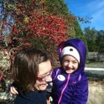 Hamilton visits the Lady Bird Johnson Wildflower Center with her daughter, Della. Photo by Brenda Gomez.