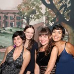 "Diaz, right, with colleagues and friends at the member preview event for the Ransom Center's exhibition ""The Making of Gone With The Wind"" in 2014."