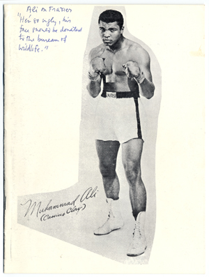 Souvenir booklet about Muhammad Ali, ca. 1972
