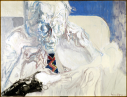 Aldous Leonard Huxley (1894-1963) Oil and acrylic on canvas, 1961 43 1/2 x 55 inches © Trustees of the Feliks Topolski Estate