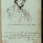 Pages from a commonplace book in which Patrick Branwell (brother of Emily and Charlotte Bronte) contributed four pages of poetry and sketches. Images courtesy of Harry Ransom Center.