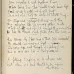 Pages from a commonplace book kept by Nancy Cunard, full of quotes and poems penned by friends in the book. Images courtesy of Harry Ransom Center.