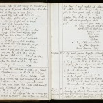 Pages from a commonplace book kept by Charles Dodgson (better known as Lewis Carroll) with information about ciphers, anagrams, stenography, and labyrinths. Images courtesy of Harry Ransom Center.