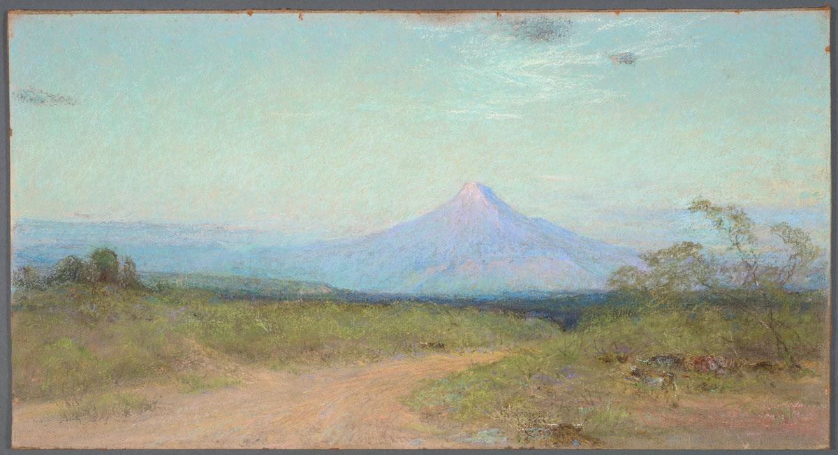 Frank Reaugh Margaret's Peak, circa 1933, pastel on Masonite, 16 1/8 x 29 15/16 inches.