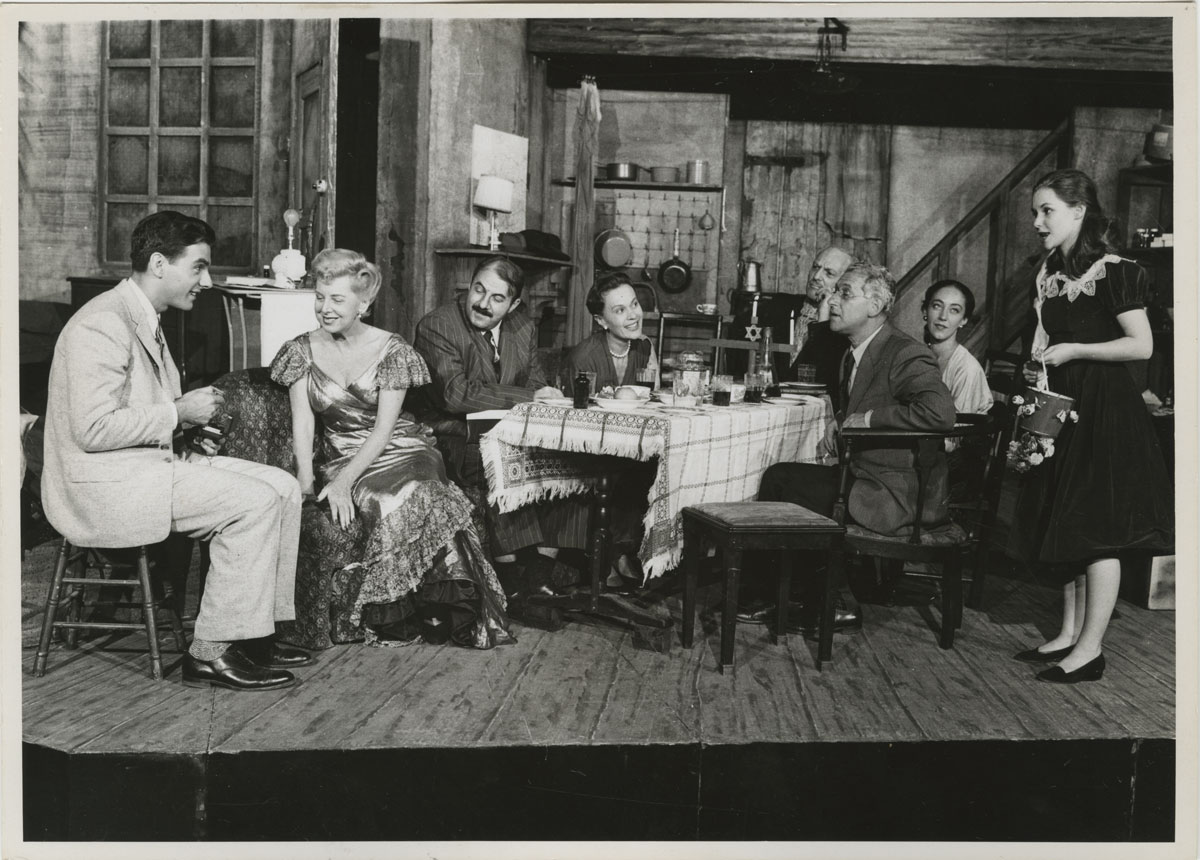 The original Broadway cast of The Diary of Anne Frank, Fred Fehl Theater Photograph Collection.