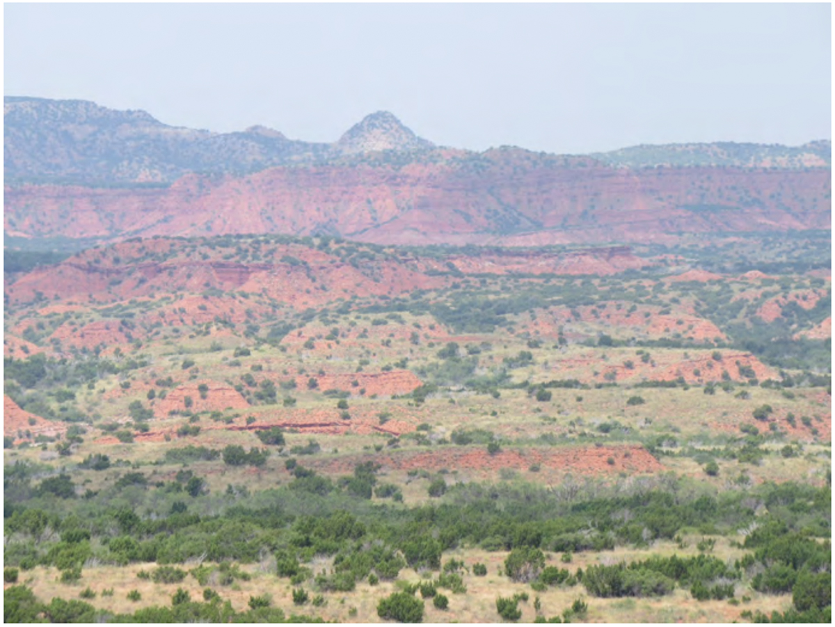Photo of Quitaque Peak from Caprock Canyon, 2015, courtesy of Sara Gaetjens.